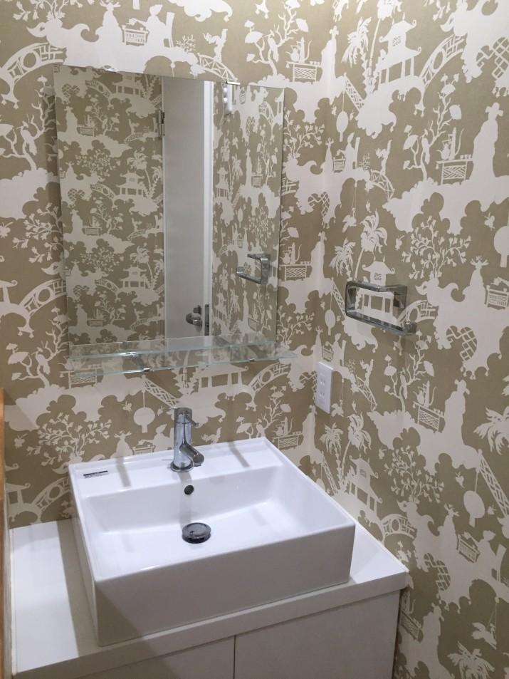 2階お手洗い施工